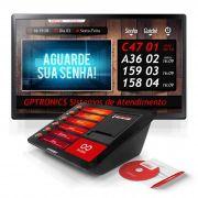Multi Agilize TV com Impressora de Senhas Print601 + Softwares GPSenha e GPSenhaTV