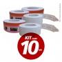 Kit com 10 Bobinas de senha para dispensador tipo Bico de Pato