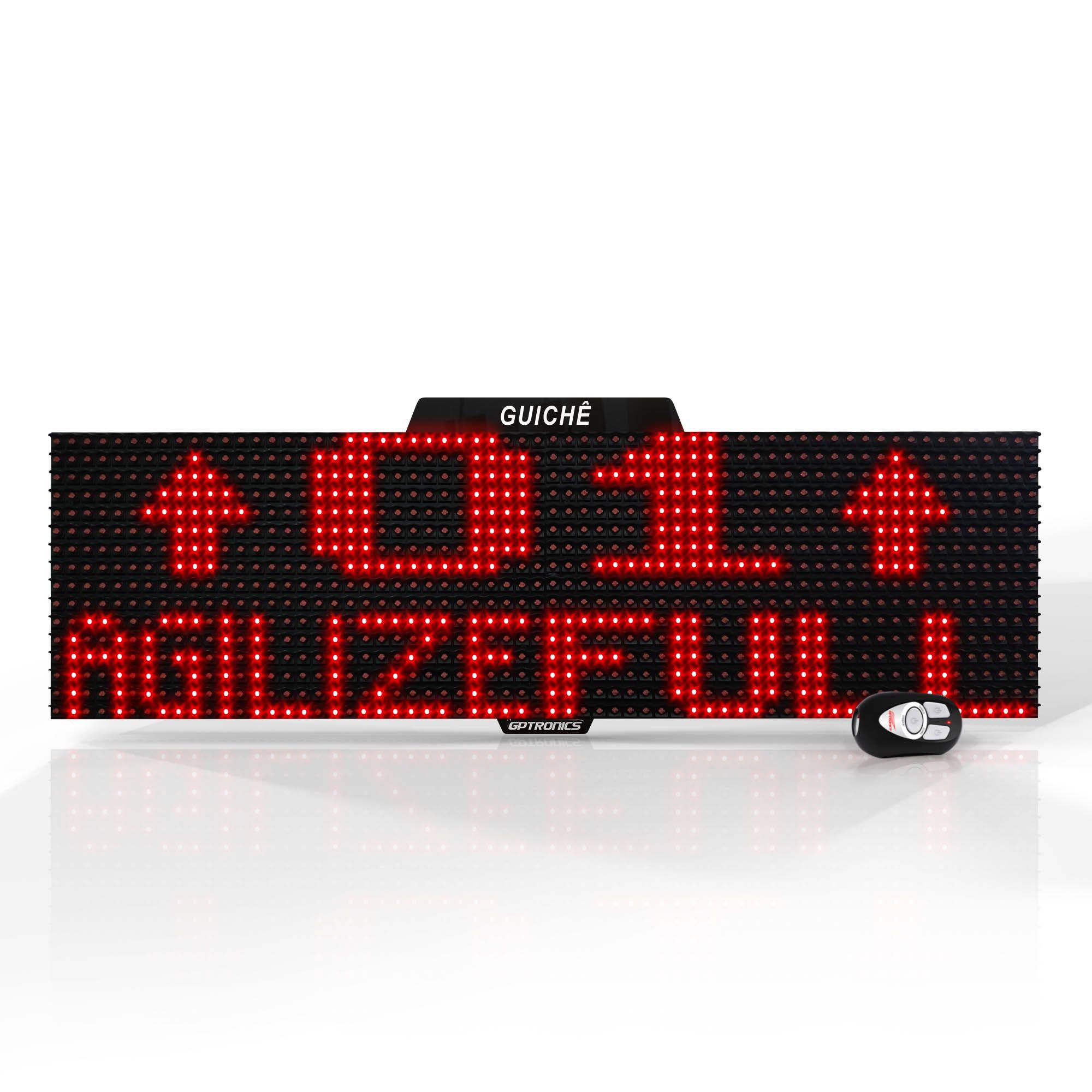 Agilize Full G - Painel de Guichê com Mensagem - 64x16x4cm