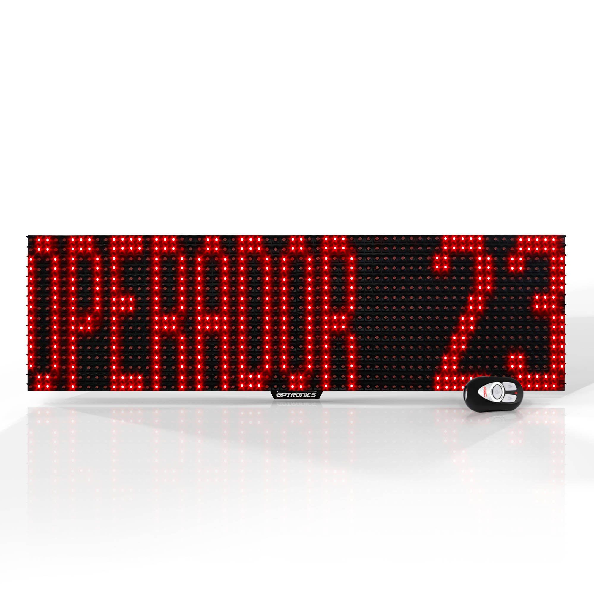 Agilize Full GT - Painel Chamador de Guichê com Texto e Mensagem - 64x16x4cm