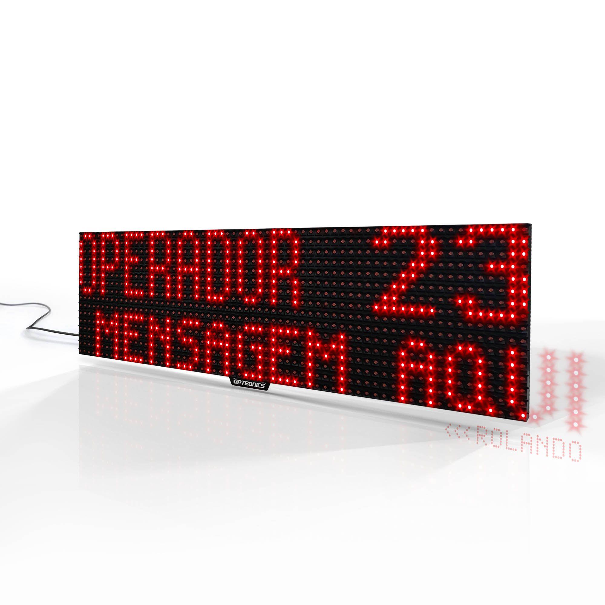 Agilize Full GT - Painel de Guichê com Texto e Mensagem - 64x16x4cm