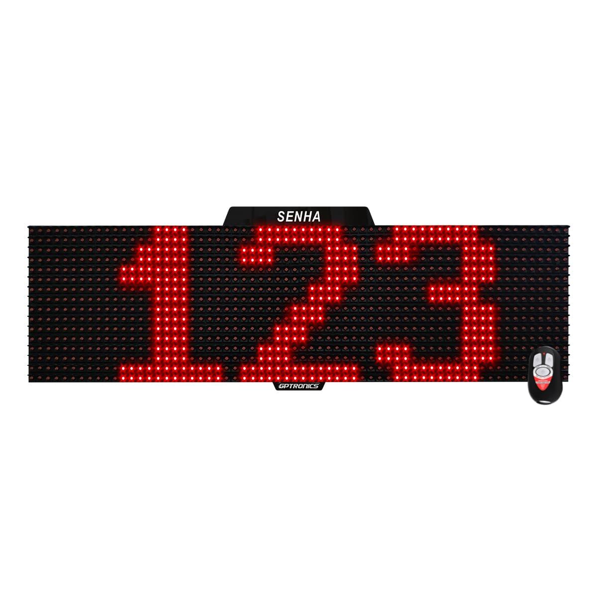 Agilize Full S - Painel de Senhas com Mensagem - 64x16x4cm
