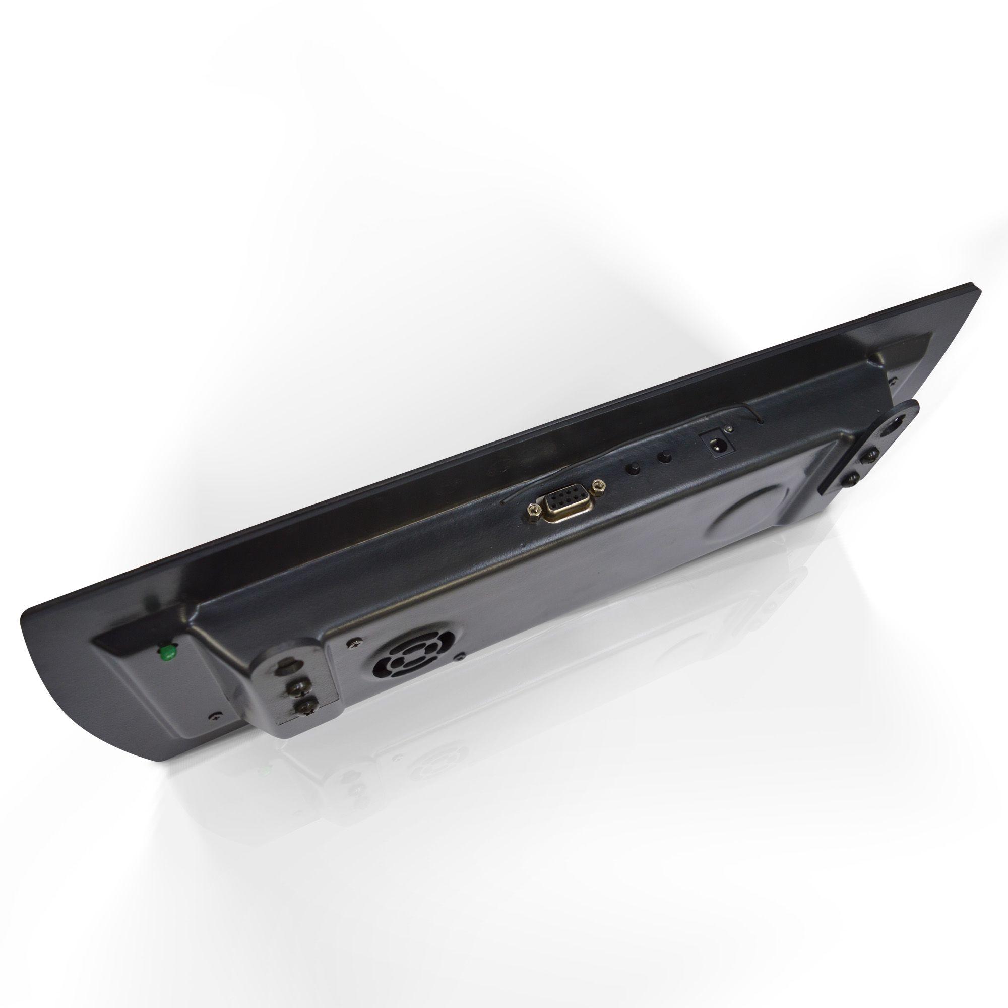 Agilize Slim 625 SG + Fala Senha Vox One - Painel de Senha e Guichê com 4 Controles - 38x14 cm