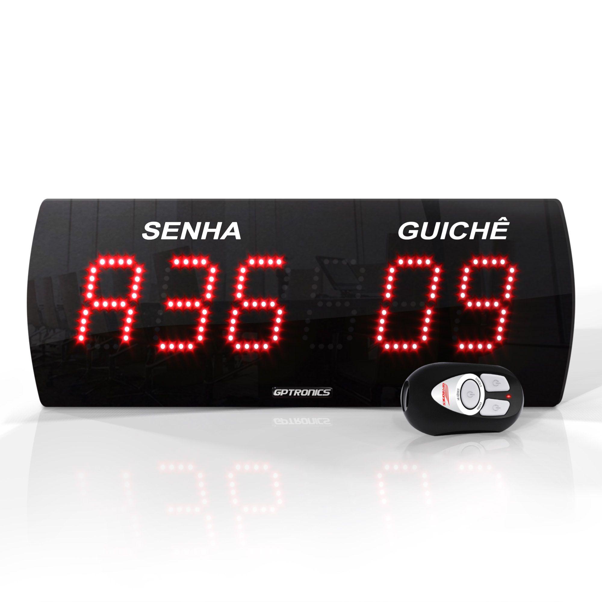 Agilize Slim 625 SG - Painel de Senha e Guichê com 2 Controles - 38x14 cm
