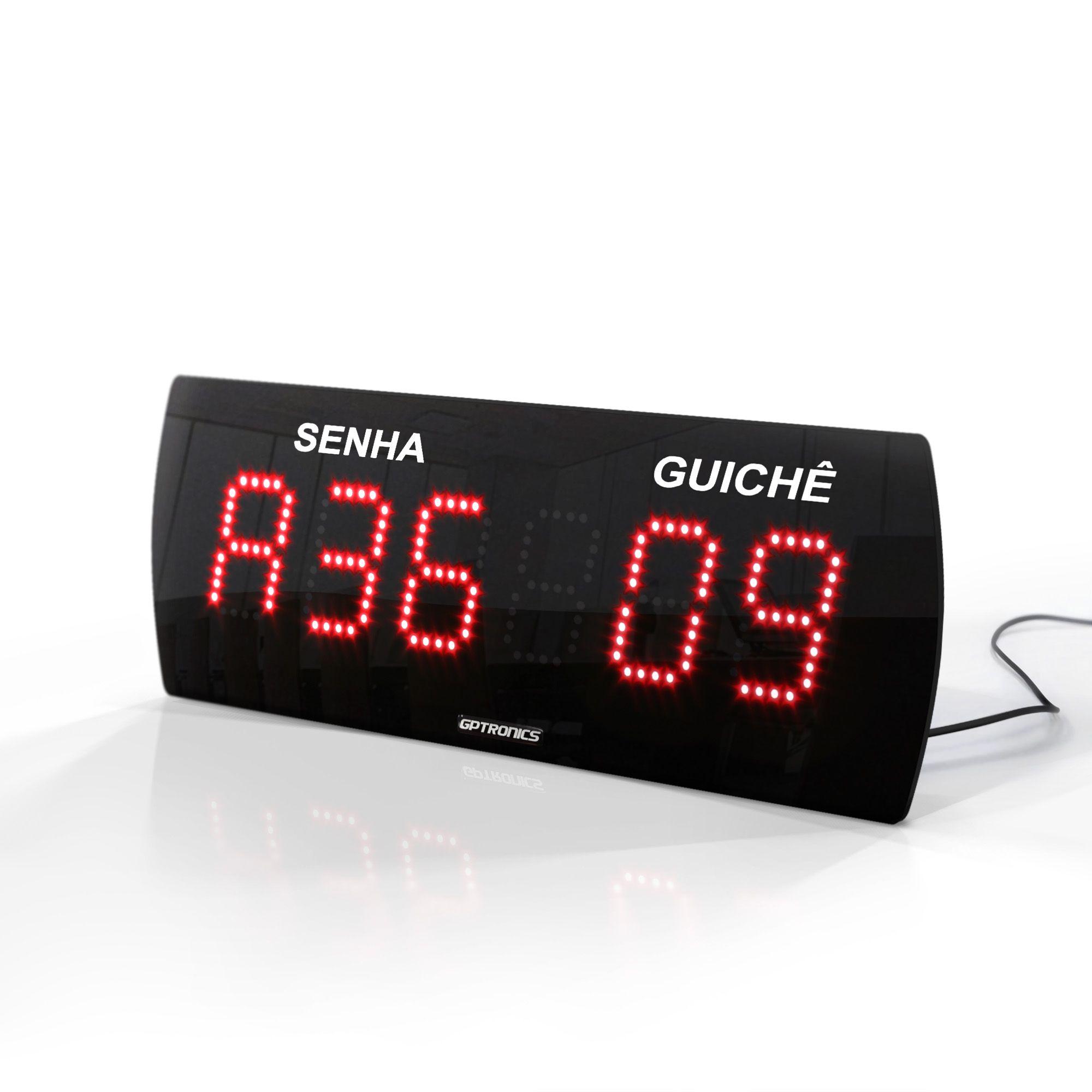 Agilize Slim 625 SG - Painel de Senha e Guichê com 4 Controles - 38x14 cm