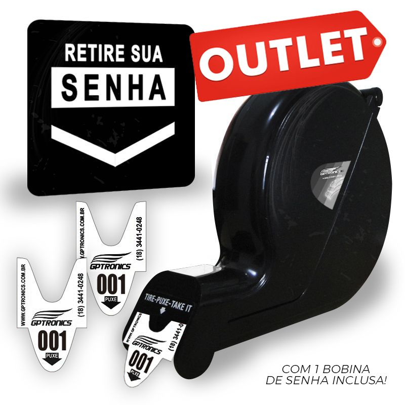 Dispensador de Senhas com Placa e Bobina - Outlet