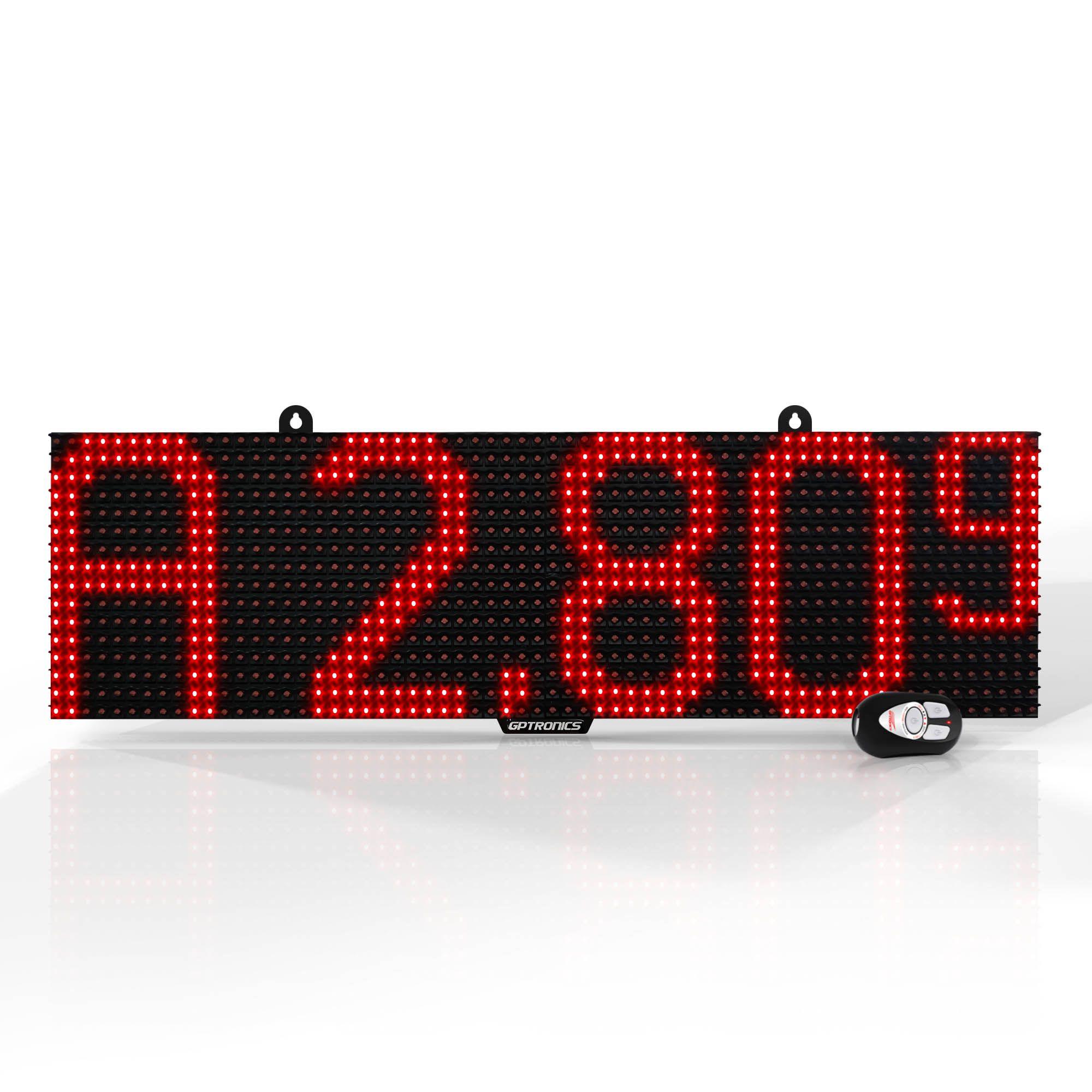 LED Full P - Painel Para Exibição de Preços - 64x16x4cm