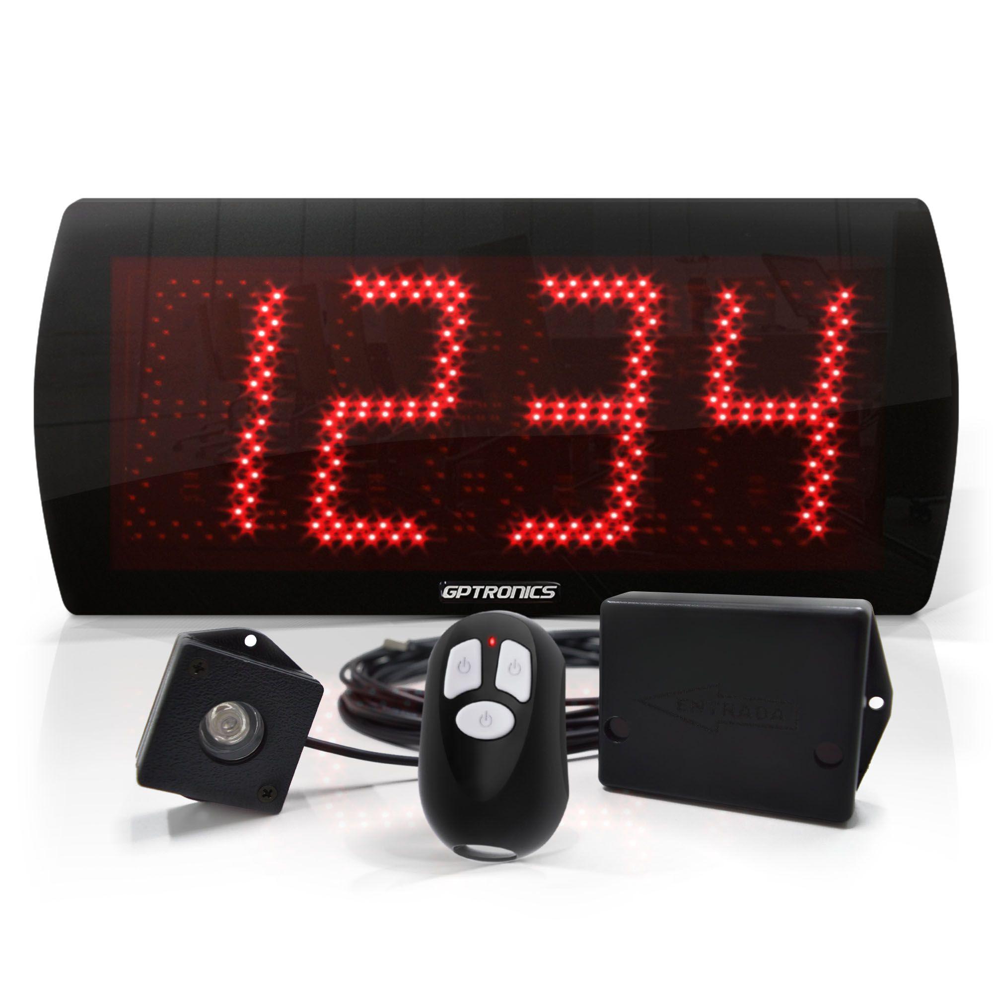 LEDCount 60 - Painel Contador de Pessoas com Controle e Sensor LED – 58x25 CM