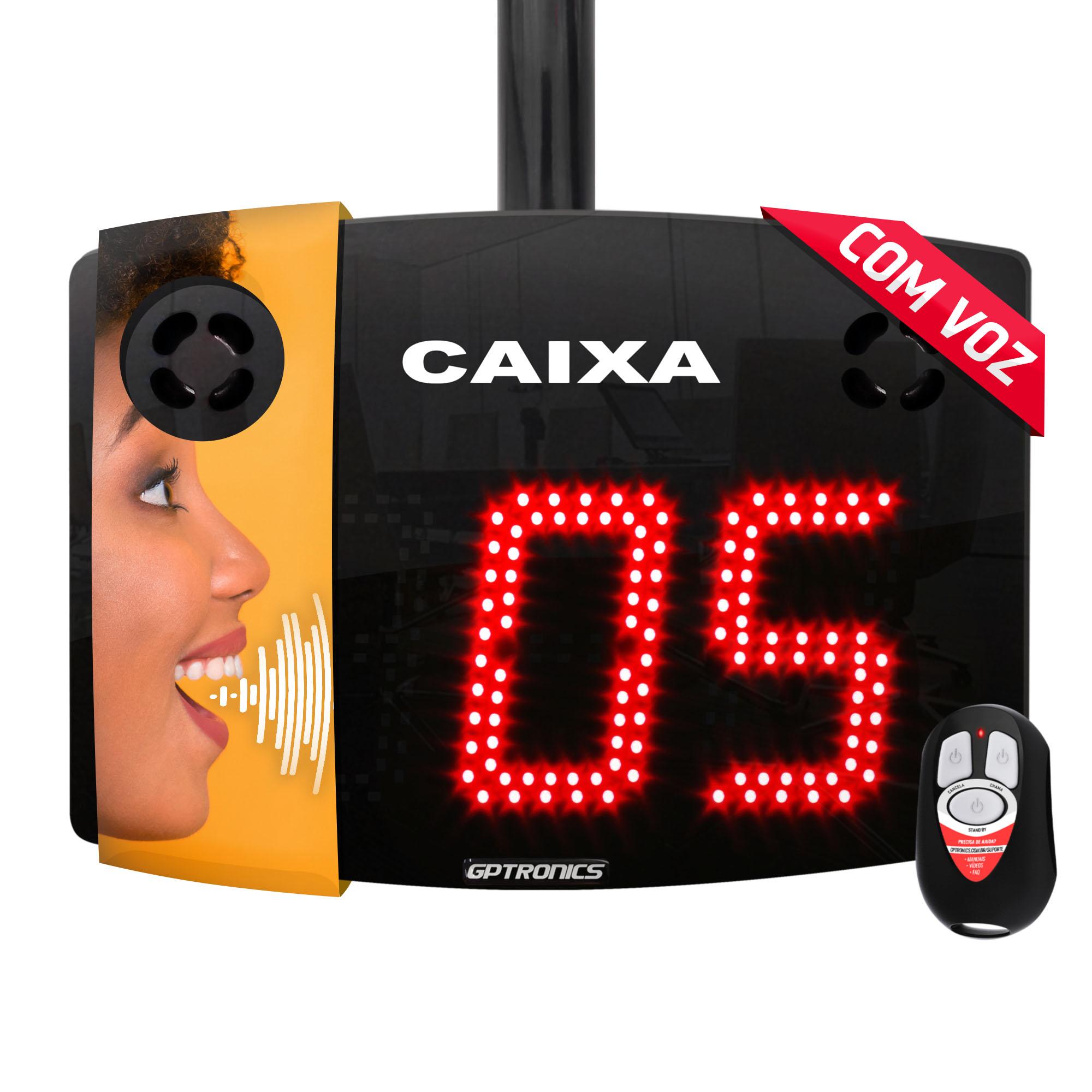 Painel Caixa com voz Agilize Vox 40 G com 2 Controles WI - 28,5x22 cm