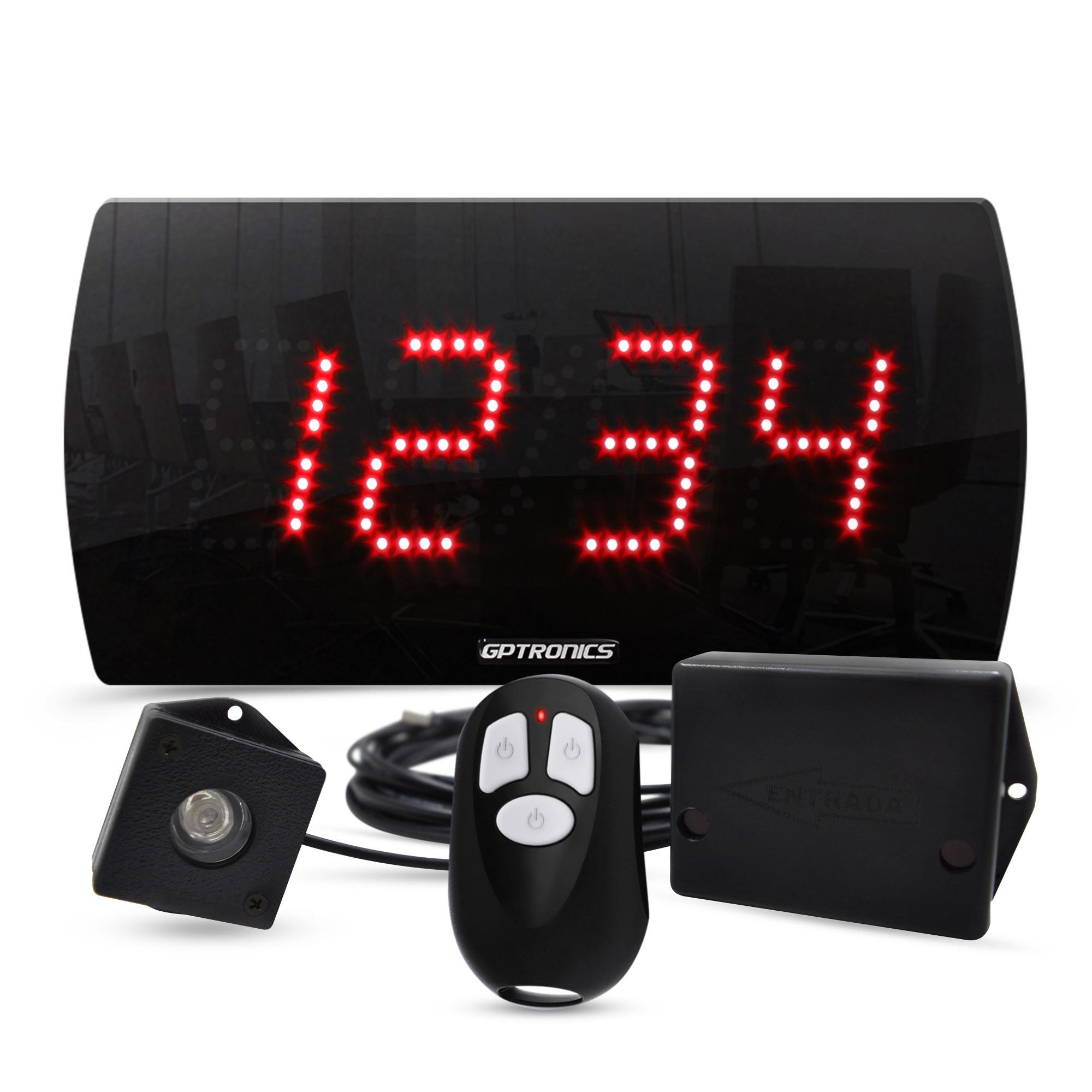 Painel Contador de Pessoas LEDCount 25 com Controle WI e Sensor LED – 28x14 CM