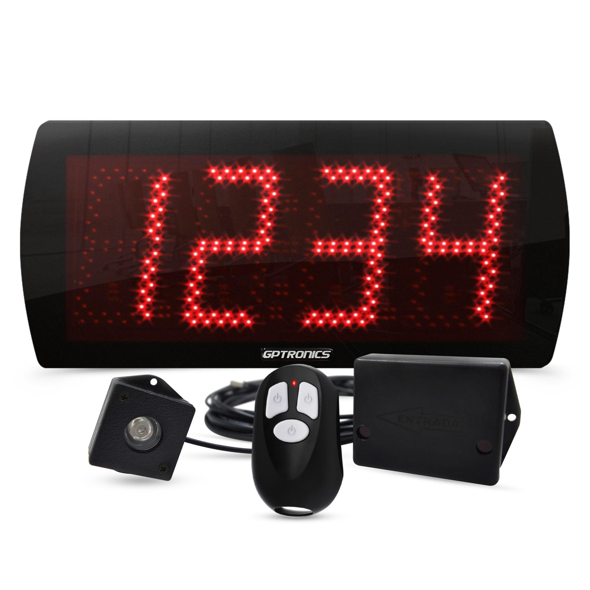 Painel Contador de Pessoas LEDCount 60 com Controle e Sensor LED – 58x25 CM