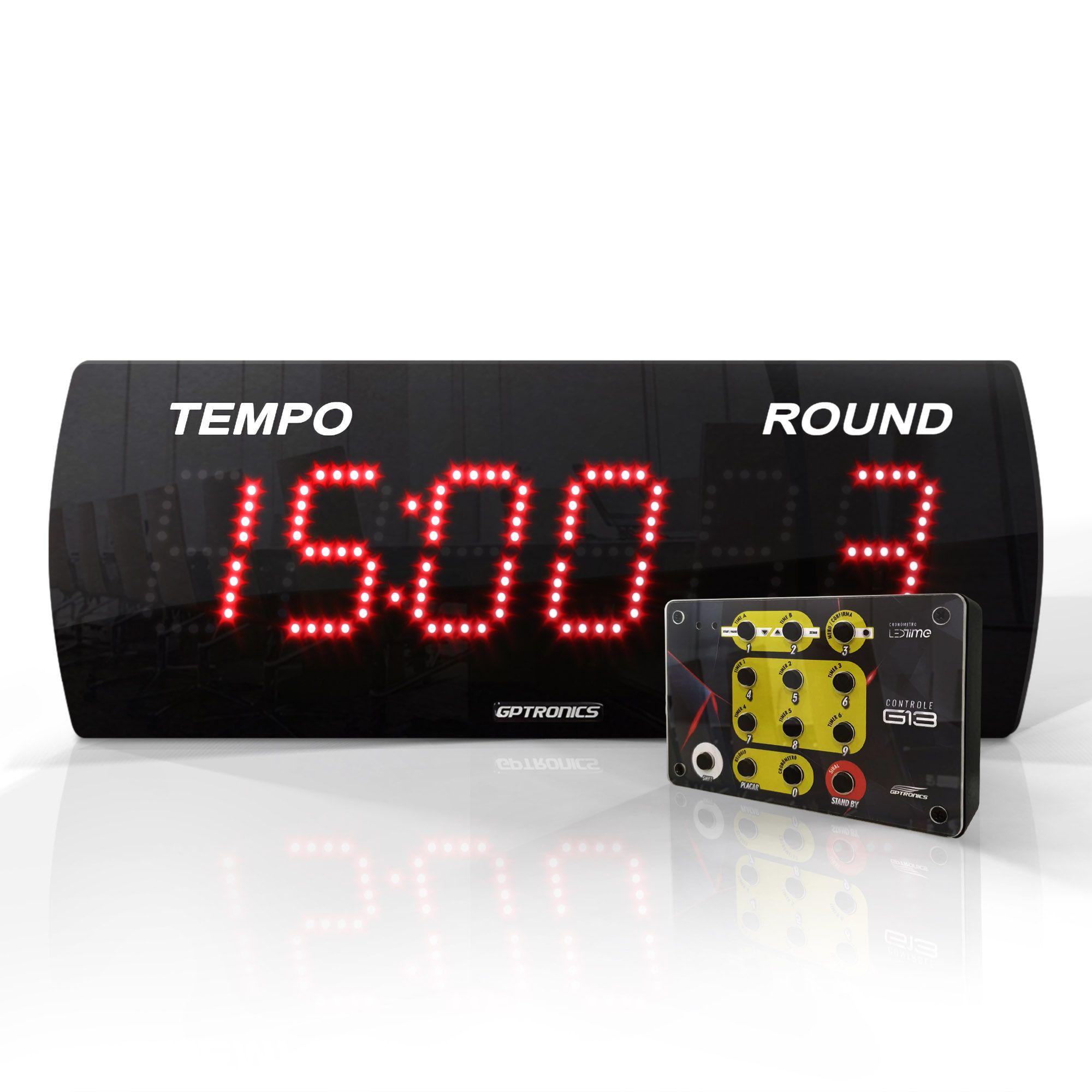 Painel Cronômetro LEDTime 625 / 38x14 cm / Com Controle G13