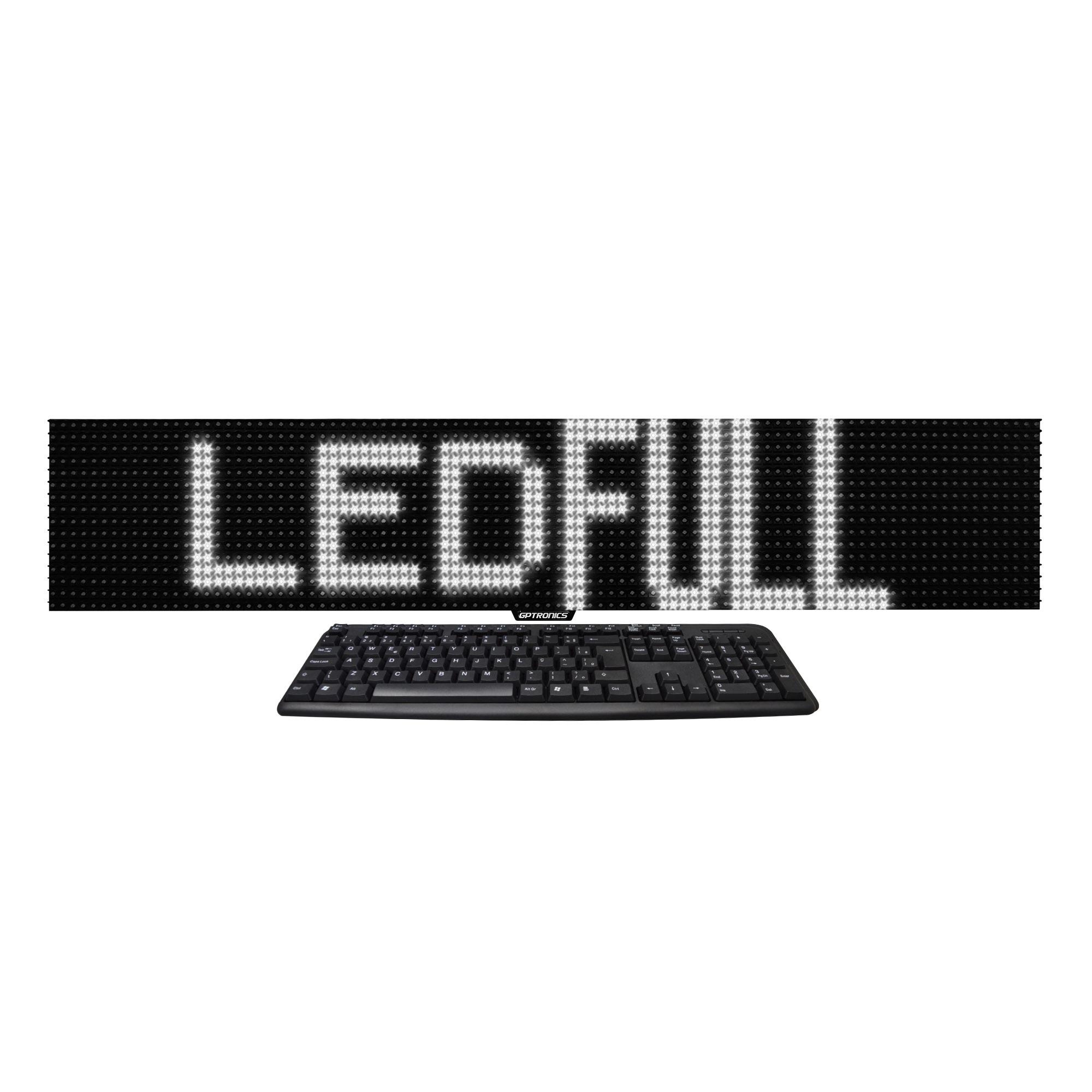 Painel de Mensagens LED Full M3 Branco (Uso Interno) - 96x16 cm