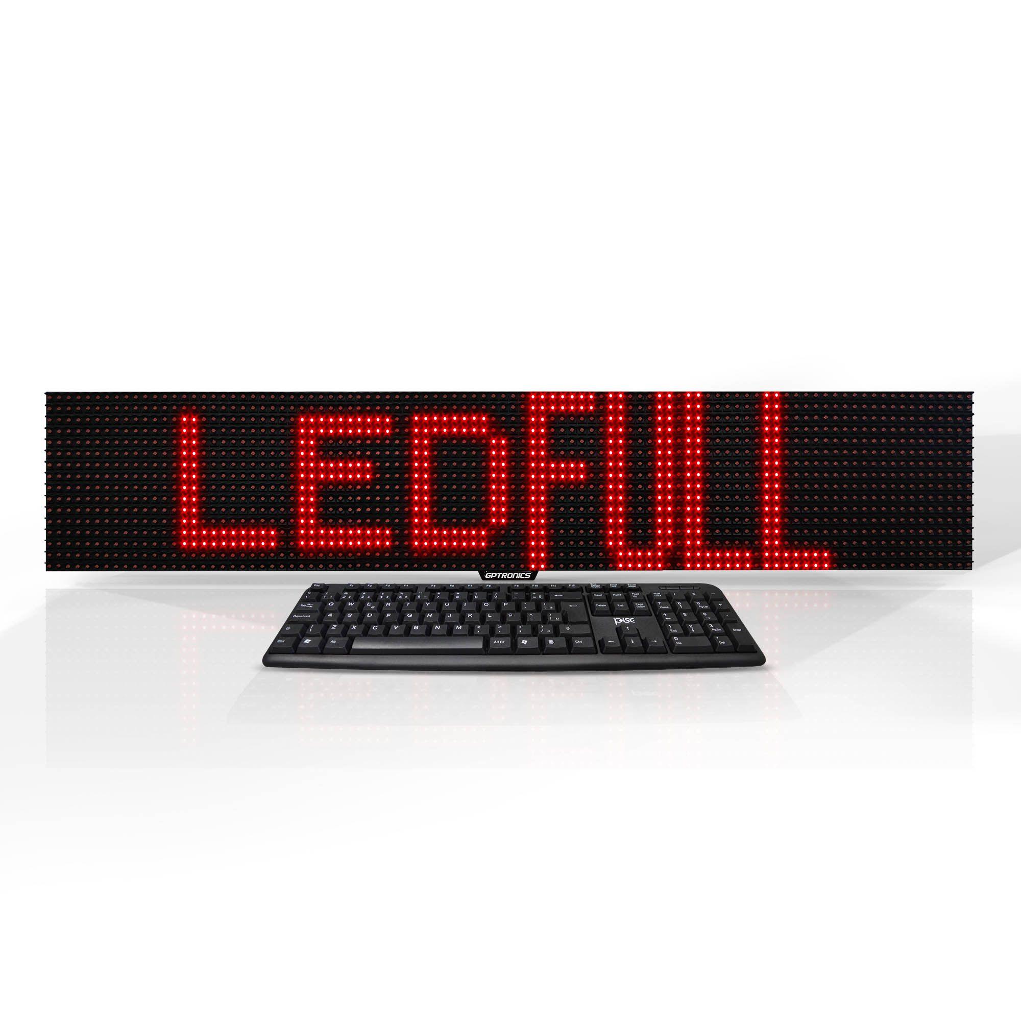 Painel de Mensagens LED Full M3E (Uso Externo*) - 96x16 cm