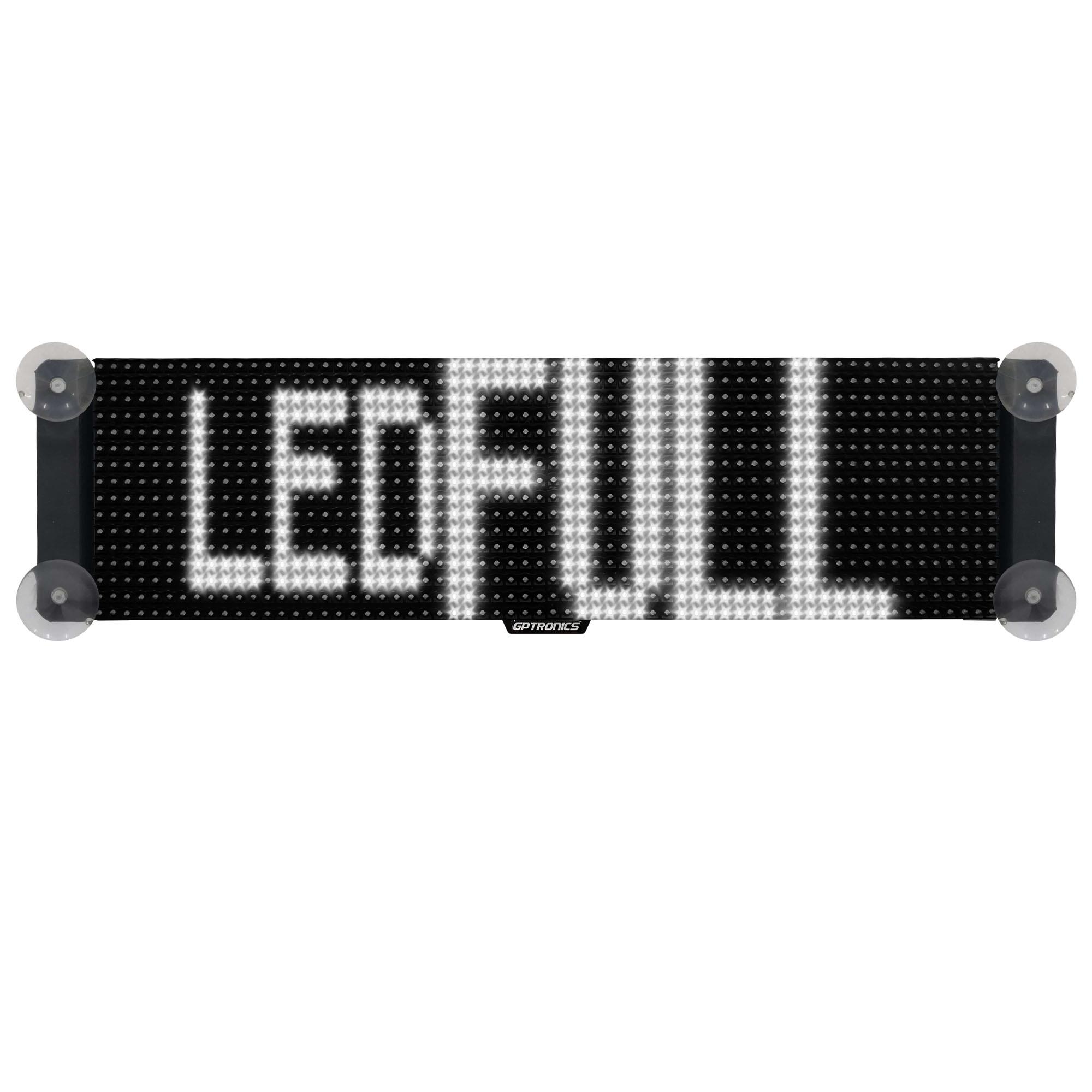 Painel de Mensagens Veicular LED Full M2 Branco (Uso Interno) - 64x16 cm