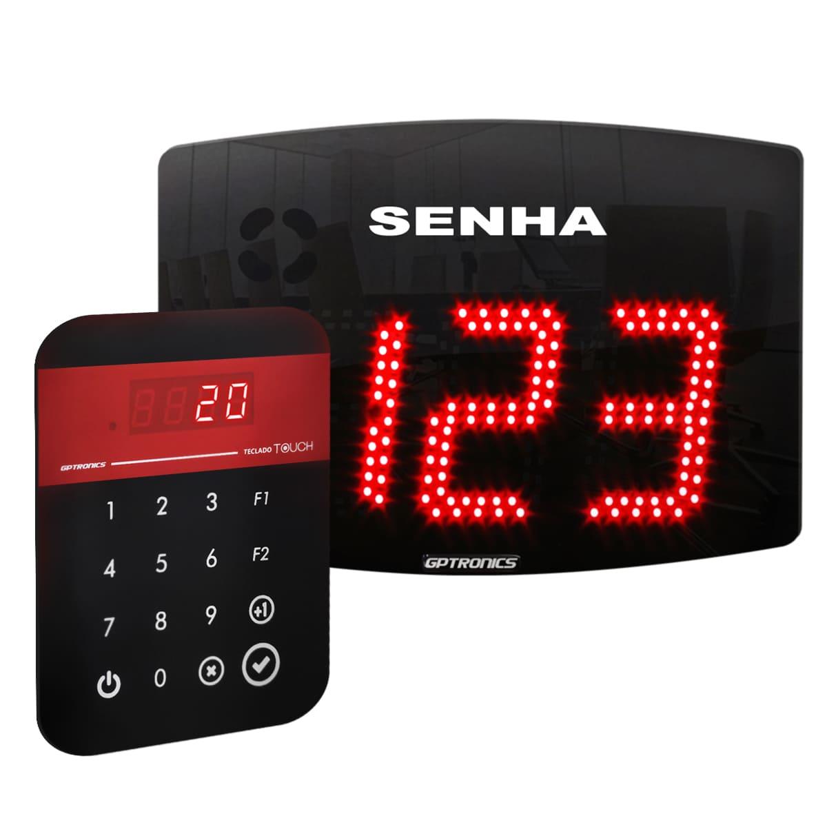 Painel de Senhas Sequenciais e Alternadas Agilize Slim 40 SA com Teclado Digitador Touch - 28,5x22 cm