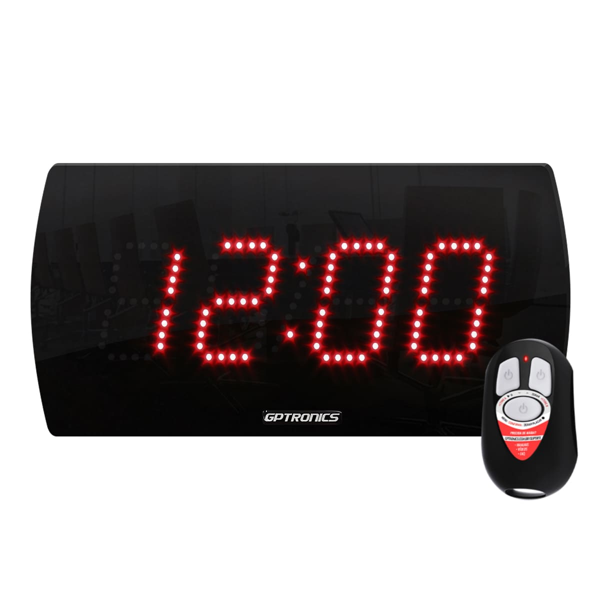 Painel LEDTime 25 - Relógio/Cronômetro Digital - 28x14 cm