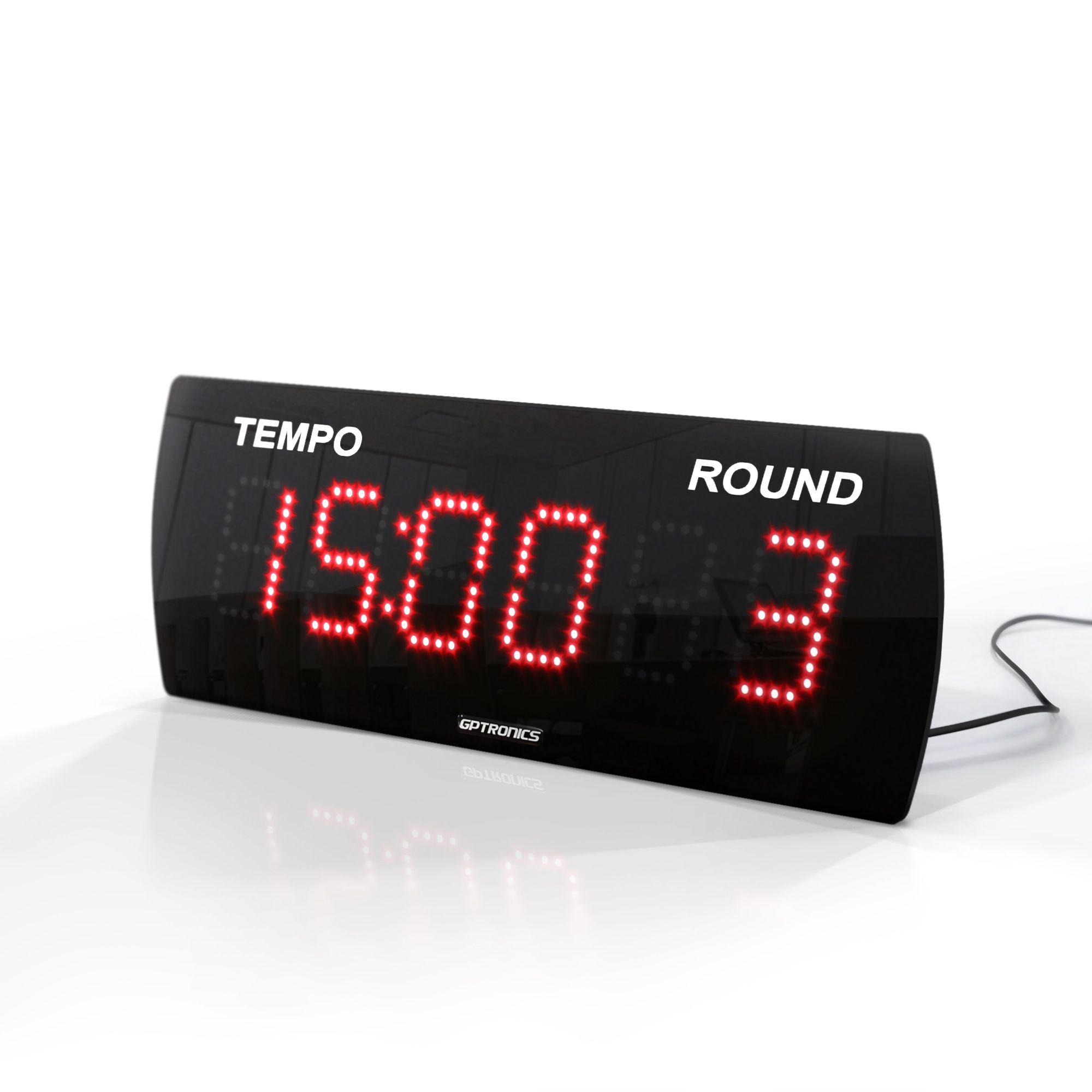 Painel LEDTime 625 - Relógio/Cronômetro Digital - 38x14 cm
