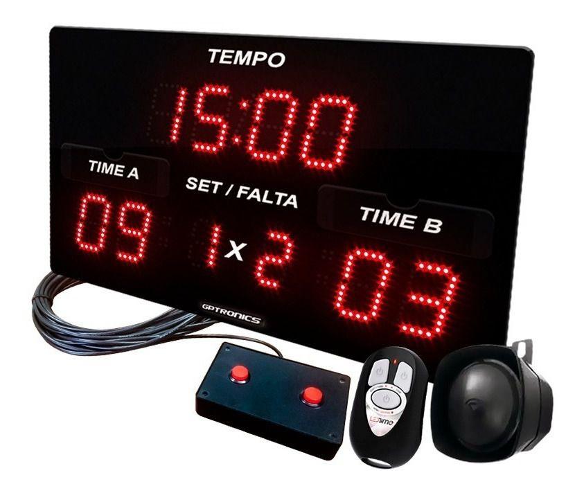 Painel LEDTime SPORTS X3 - Poliesportivo - 42x25cm