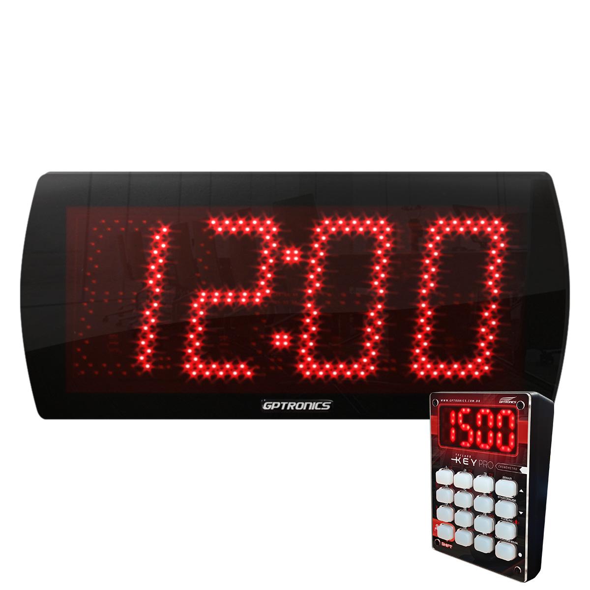 Painel Relógio Cronômetro LEDTime 60 N - Com Teclado Key Pro - 58x25CM