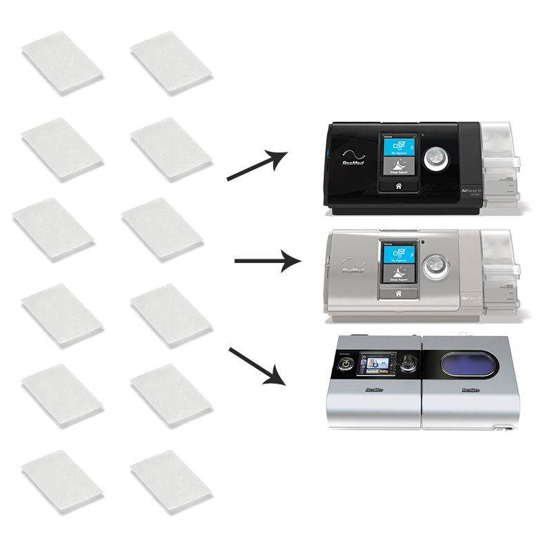 12 unidades De Filtros Ultrafino Nacional P/ CPAP e VPAP S9, AirSense 10, VPAP AirCurve