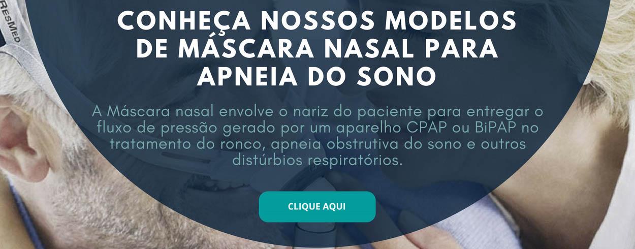 Máscara Nasal para CPAP e Bipap