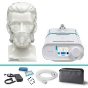 Kit CPAP Automático DreamStation + Umidificador + Amara View Philips Respironics