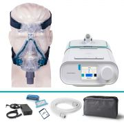 Kit CPAP Automático DreamStation + Umidificador + Máscara Mirage Quattro