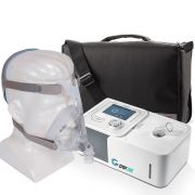Kit CPAP Automático Yuwell + Umidificador + Máscara Oronasal Quattro Air For Her