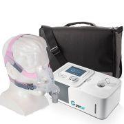 Kit CPAP Automático Yuwell + Umidificador + Máscara Oronasal Quattro FX for Her