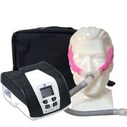 KIT CPAP DreamStar Intro + Umidificador + Máscara Nasal Swift FX For Her