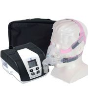 KIT CPAP DreamStar Intro + Umidificador + Máscara Oronasal Quattro FX for Her