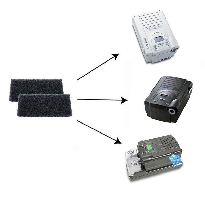 (2 Unidades) Filtro de Espuma Original (4cm x 9cm) CPAP e BiPAP Philips Respironics