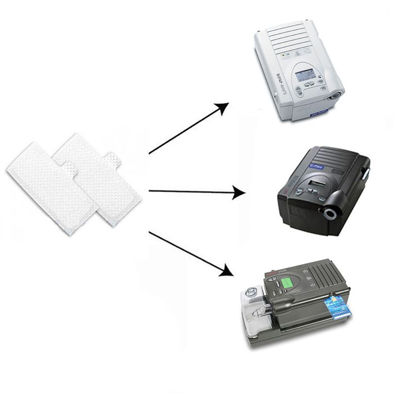 (2 Unidades) Filtro Ultrafino Original (4cm x 9cm) para CPAP e BiPAP Philips Respironics