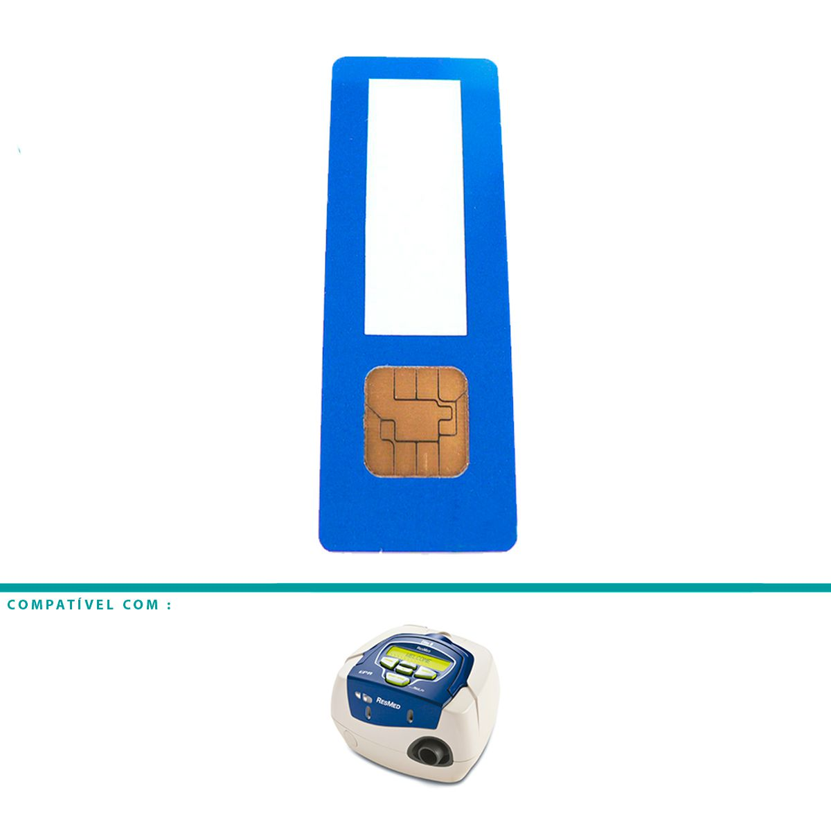 Cartão de Dados Rescan Para CPAP e VPAP S8 Resmed