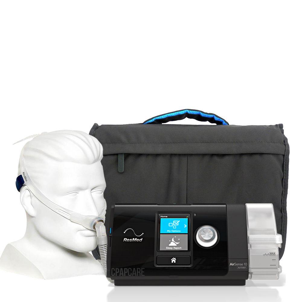 (COMBO) CPAP (Automático) AirSense 10 AutoSet com Umidificador + Máscara Nasal Swift FX Resmed