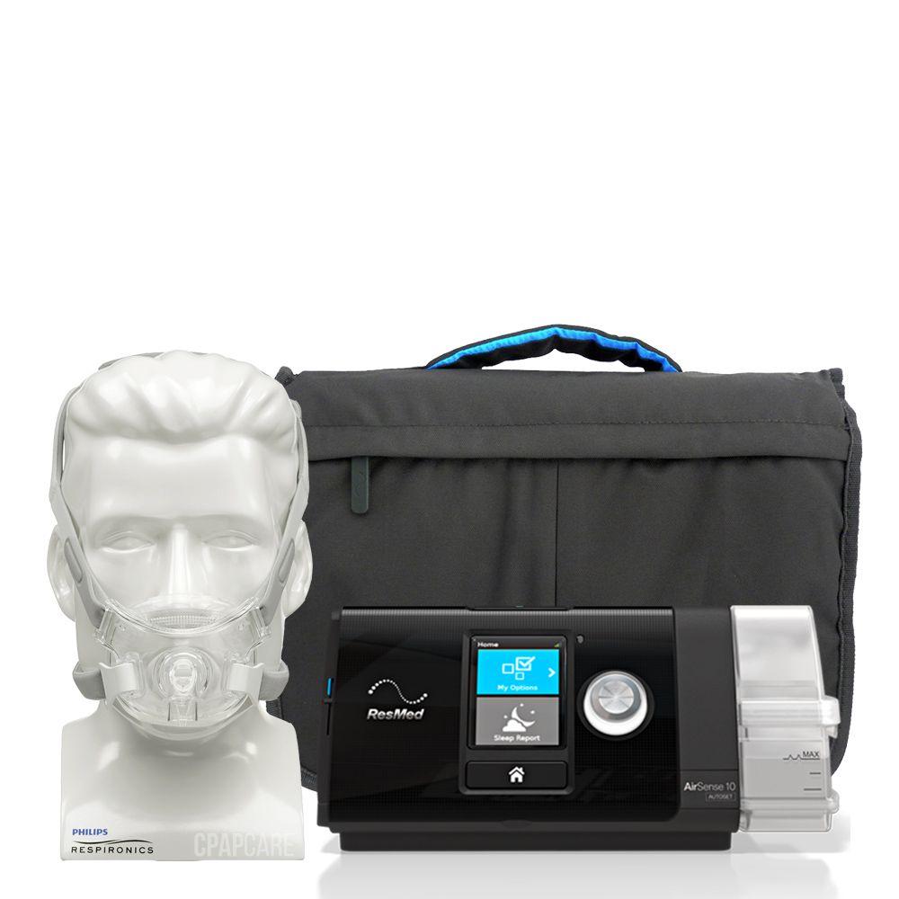 (COMBO) CPAP (Automático) Airsense 10 AutoSet Resmed com Máscara Facial Amara View Philips Respironics