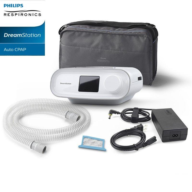 (COMBO) CPAP (Automático) DreamStation + Umidificador + Máscara Mirage Quattro Resmed