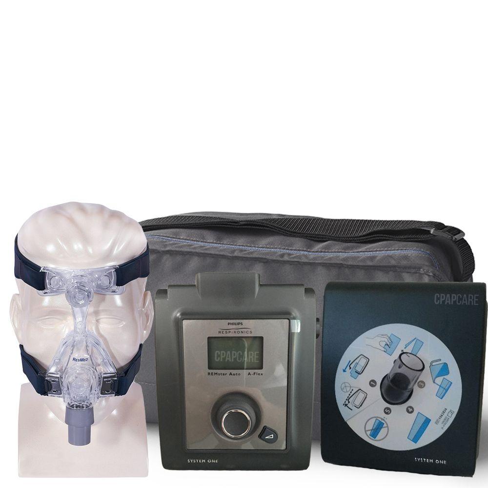 (COMBO) CPAP (Automático) System One Serie 60 + Umidificador + Máscara Nasal Mirage Micro Resmed