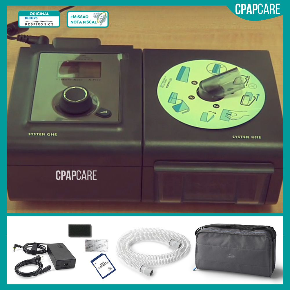 (COMBO) CPAP (Automático) System One Serie 60 + Umidificador Philips Respironics