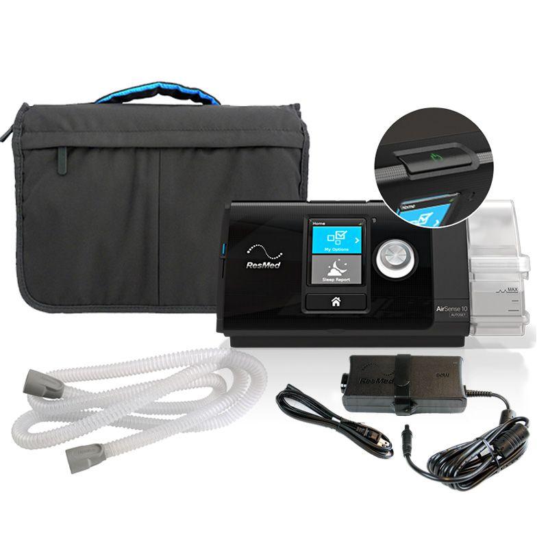 (COMBO) CPAP (Automático) Airsense 10 AutoSet Resmed com Máscara Nasal Wisp Philips Respironics