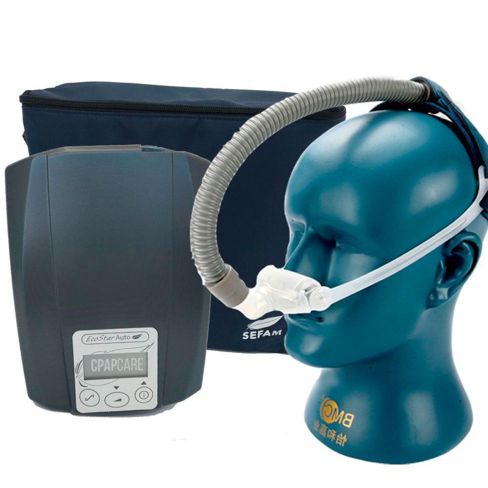 CPAP Automático Ecostar Sefam + Máscara Nasal FeaLite Silicone