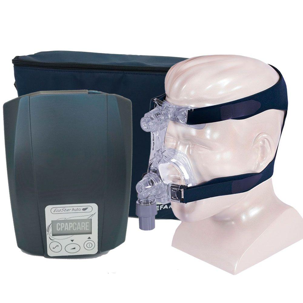 CPAP Automático Ecostar Sefam + Máscara Nasal Mirage Micro (Almofada M e G)
