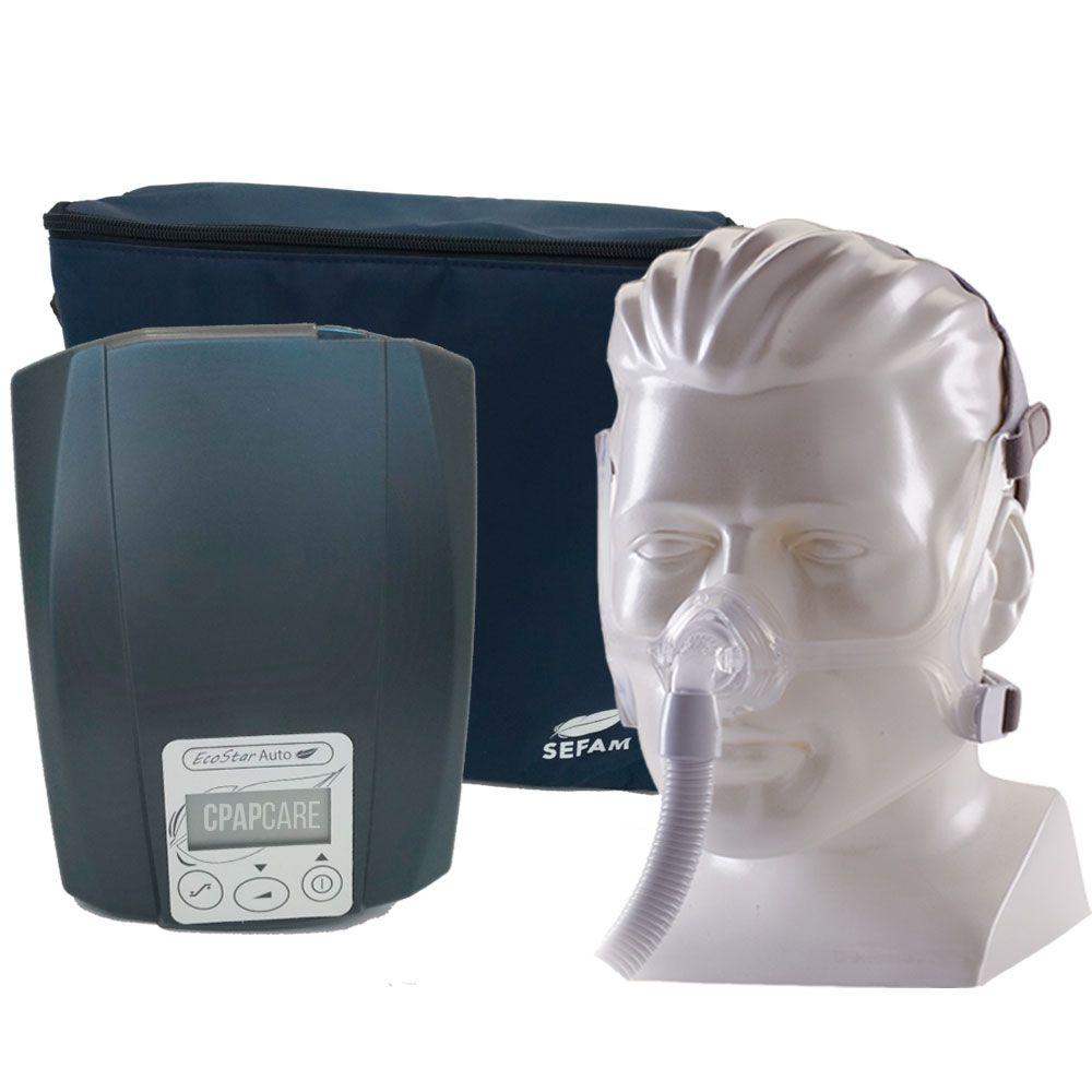 CPAP Automático Ecostar Sefam + Máscara Nasal Wisp Silicone