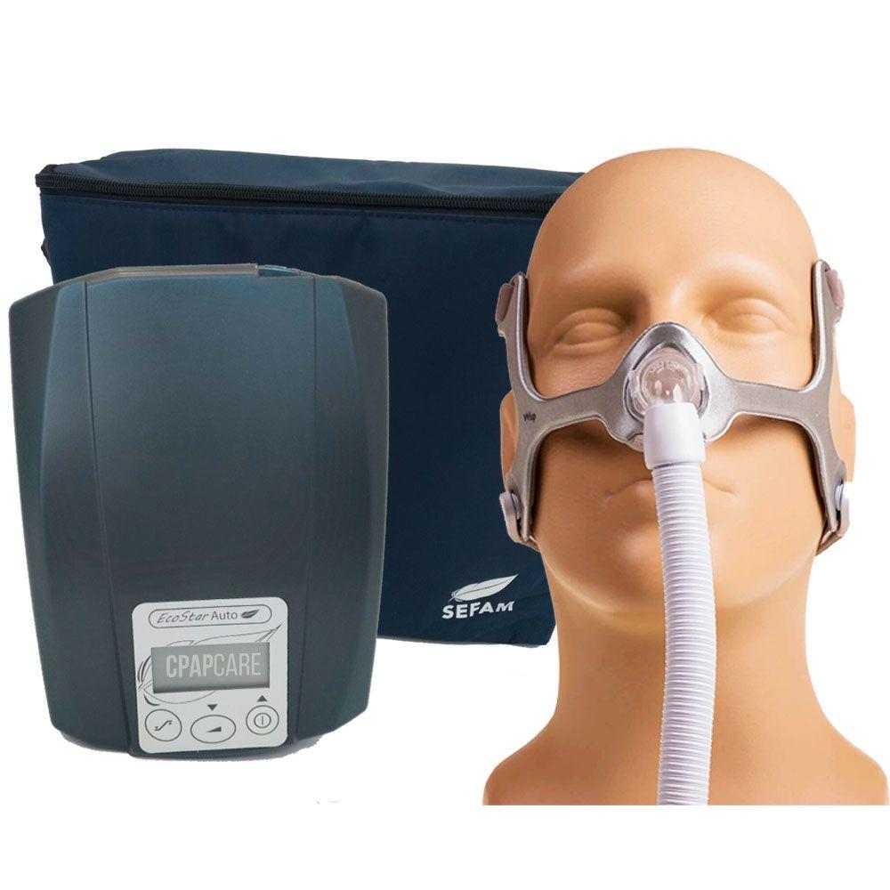 CPAP Automático Ecostar Sefam + Máscara Nasal Wisp Tecido