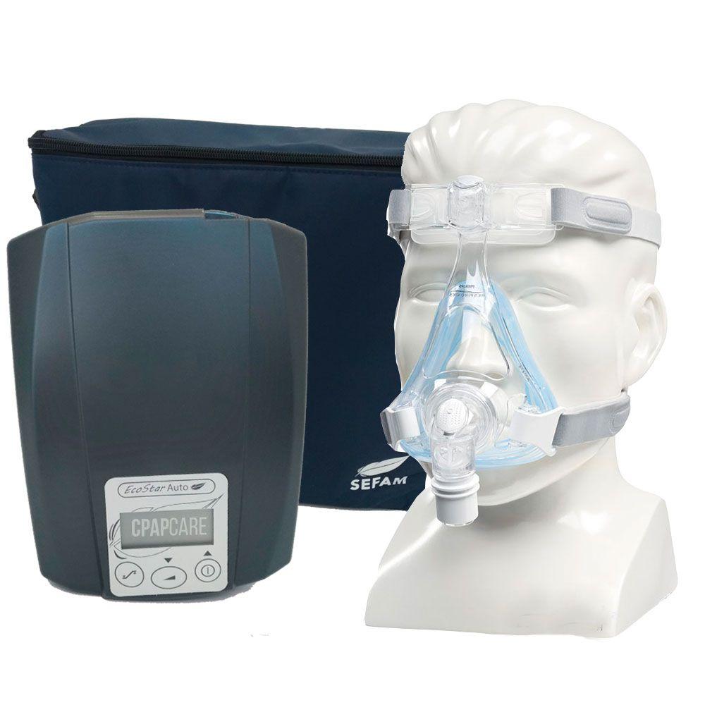 CPAP Automático Ecostar Sefam+ Máscara Oronasal Amara Gel