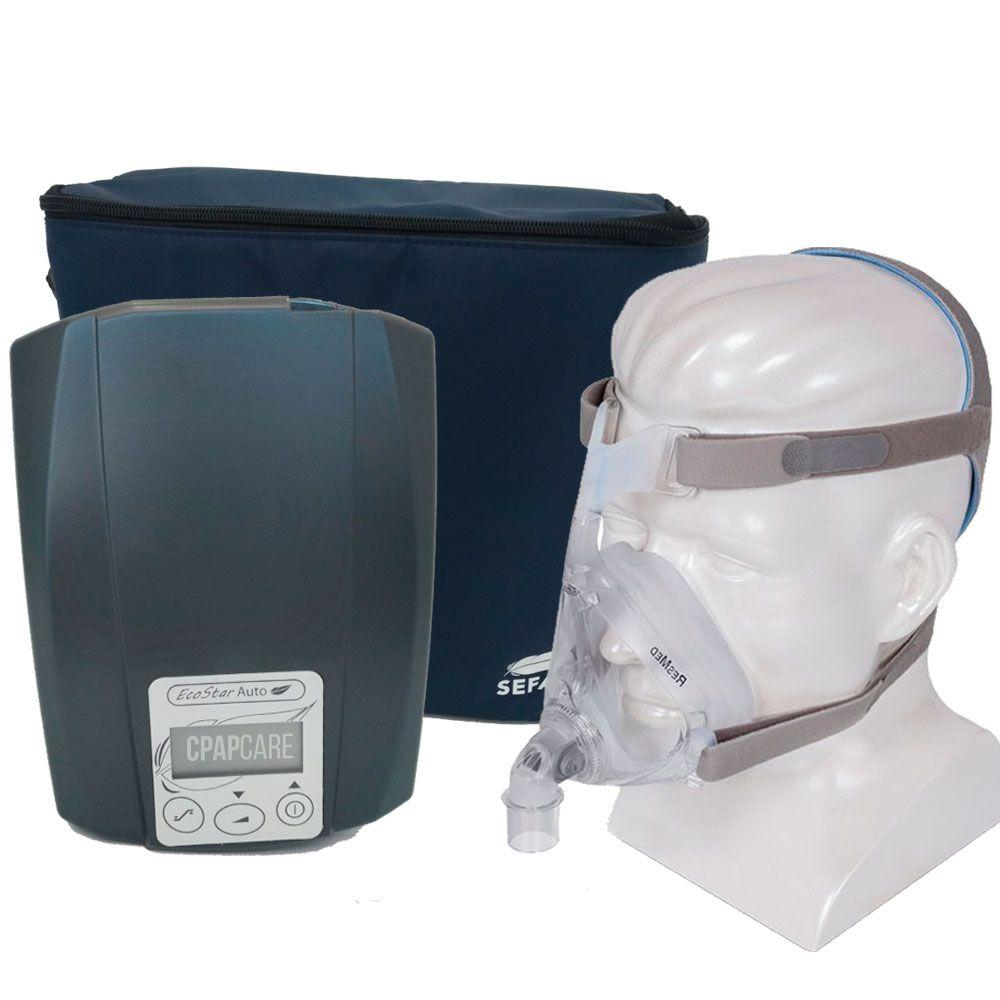 CPAP Automático Ecostar Sefam + Máscara Oronasal Quattro Air For Her