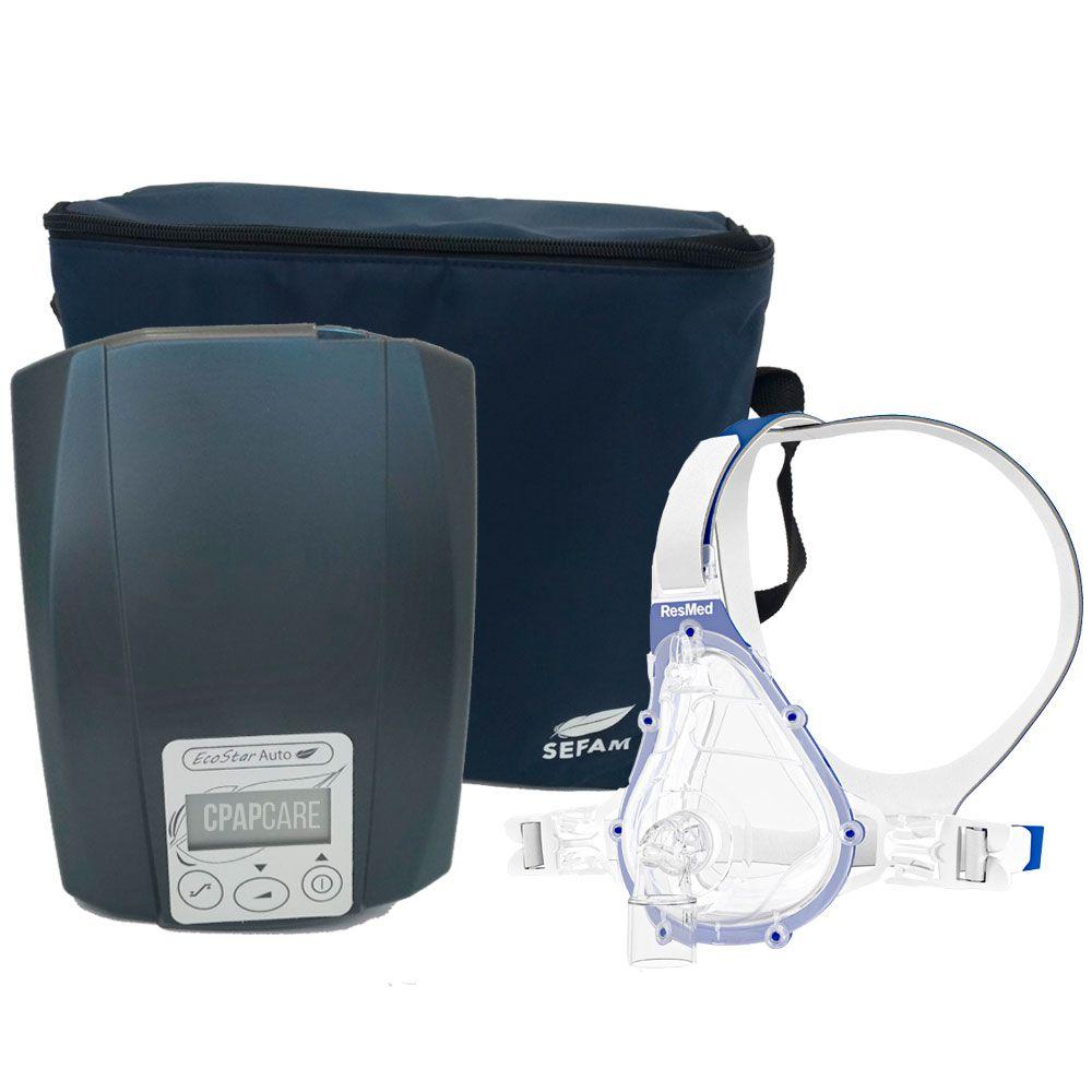CPAP Automático Ecostar Sefam + Máscara Oronasal Ventilada AcuCare F1-4