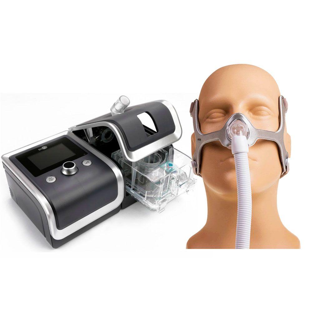 CPAP Automático RESmart G2 + Umidificador + Máscara Wisp Philips Respironics