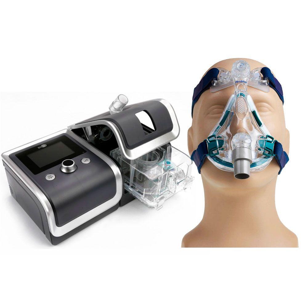 CPAP Automático RESmart G2 + Umidificador + Máscara Mirage Quattro Resmed